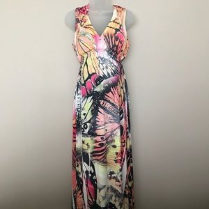 Style & Co Butterfly Maxi Dress - M